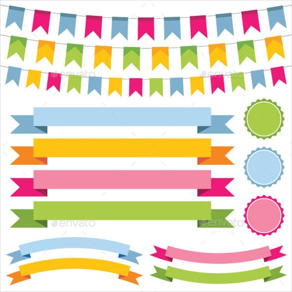 designed pennant banner template