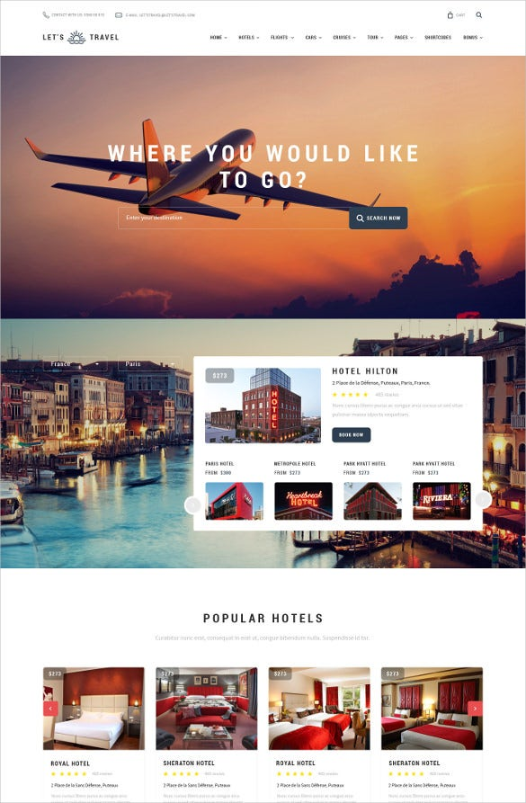 template for travel agency