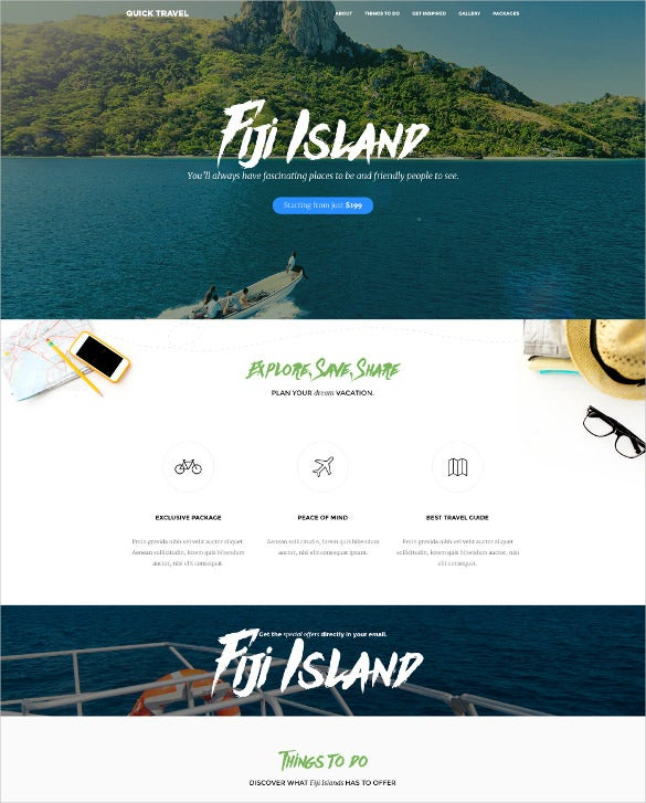 responsive travel agency landing page website template