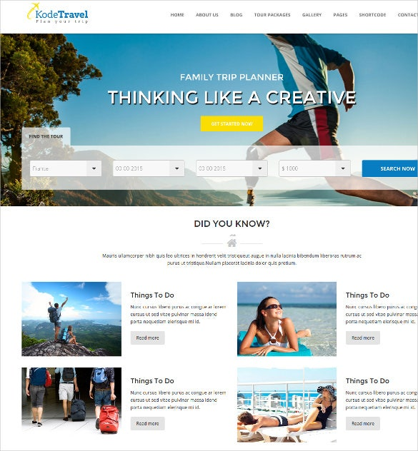 travel tourism agency html5 website template