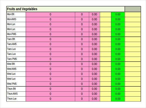 Food Inventory Templates  Free Sample Example Format