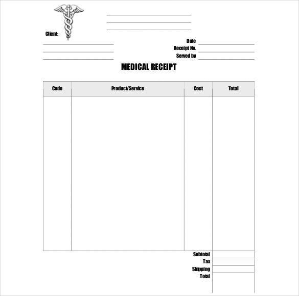 Doctor Receipt Template   Free Word Pdf Documents Download