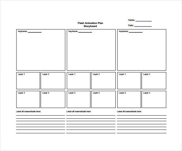 82 storyboard templates pdf ppt doc psd free for Storyboard template app