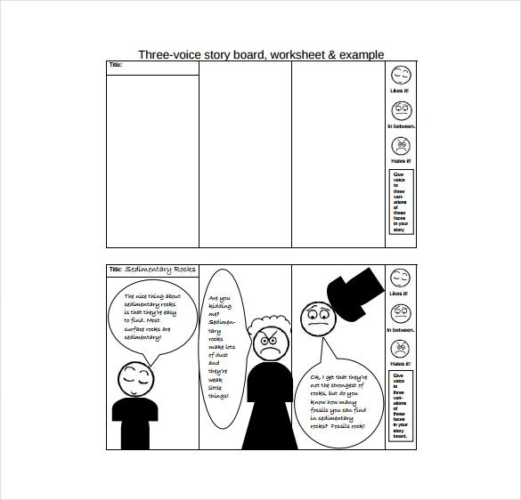 three voice blank story board pdf template free download