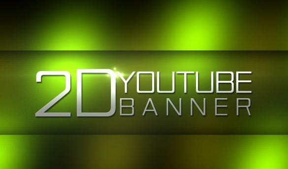 7  free youtube banner template