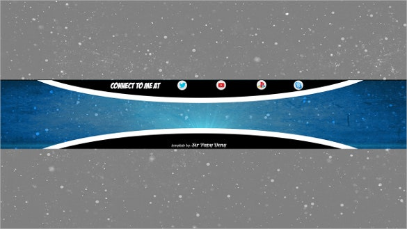 fully editable free youtube banner template