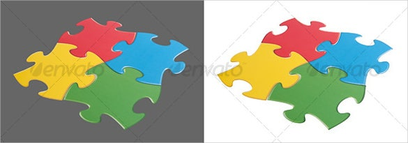 isolated puzzle pieces