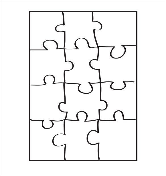 Puzzle piece template 19 free psd png pdf formats Make your own 3d shapes online