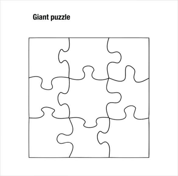 graphic relating to Free Printable Jigsaw Puzzle Maker titled Puzzle Piece Template 19+ Totally free PSD, PNG, PDF Formats