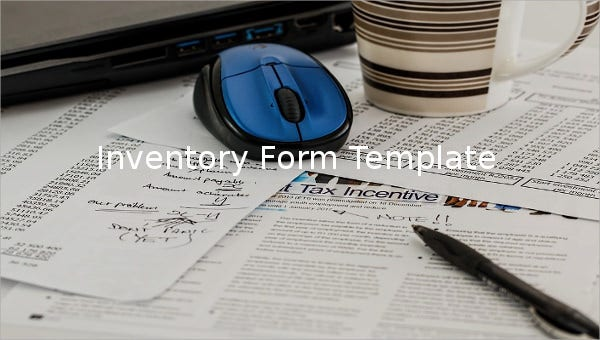 inventory form sample template