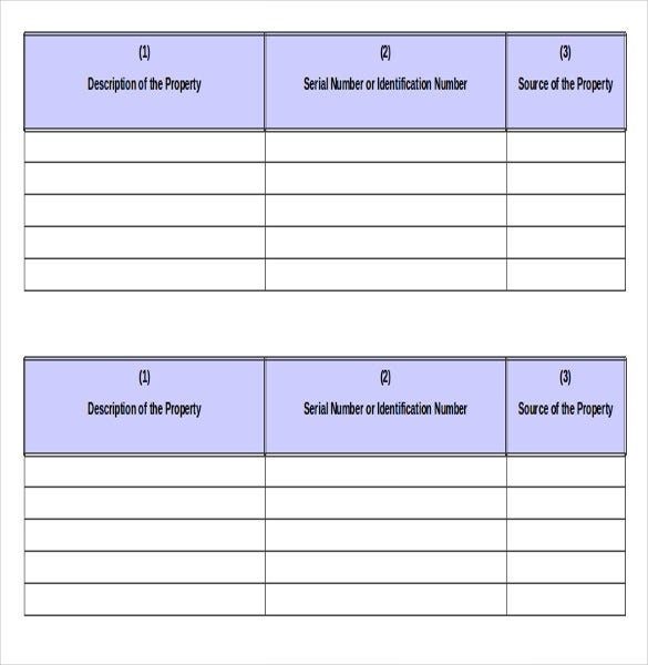 20  inventory form templates  u2013 free  sample  example