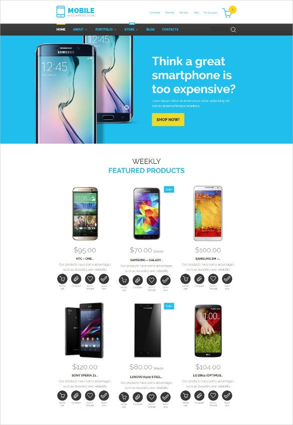 mobile technology woocommerce blog theme