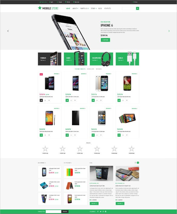 mobile store woocommerce blog theme