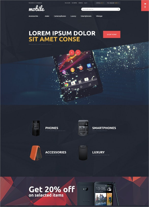 mobile accessories magento blog theme