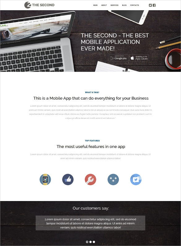 mobile applications wordpress blog theme