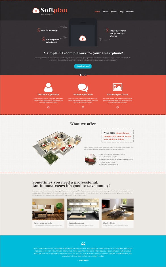 mobile apps promotion wordpress blog theme