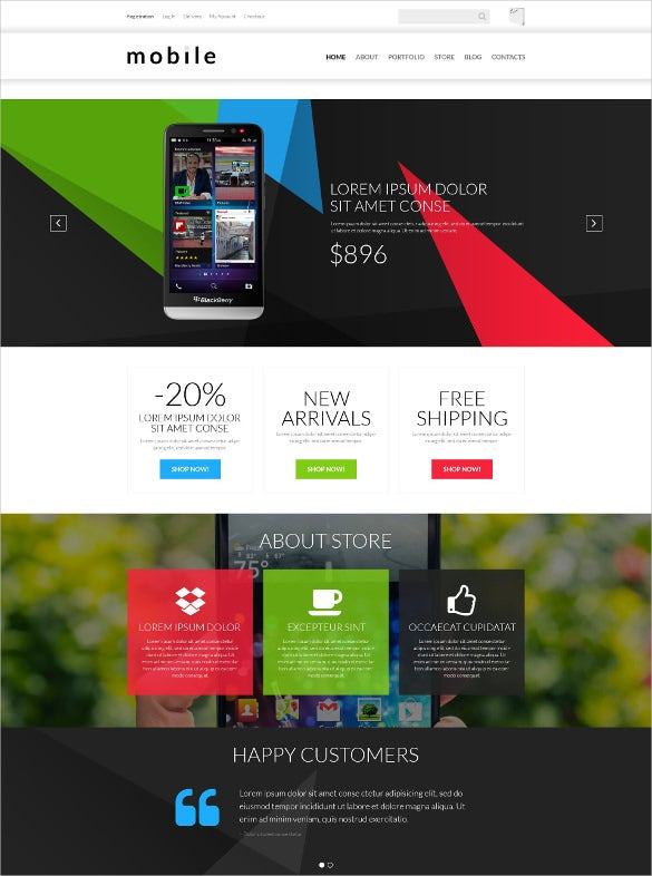 mobile gear store woocommerce blog theme