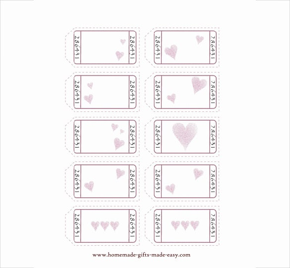 blank love coupon templates download