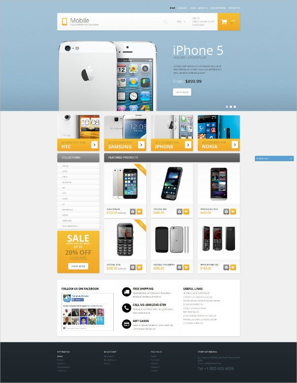 simple mobile phones shopify theme