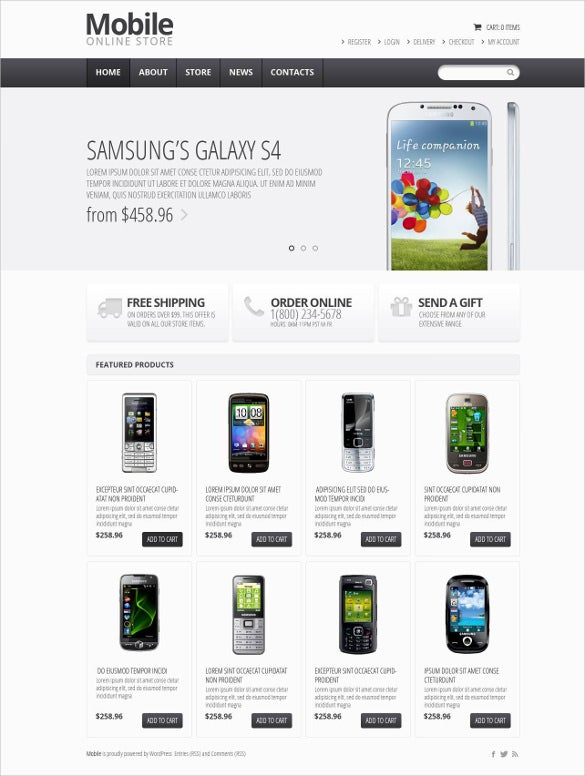 responsive mobile store jigoshop blog theme