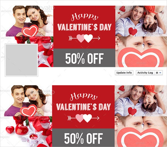 love coupon template with couple image