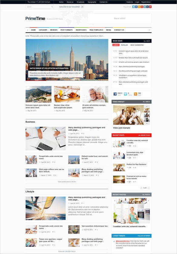 clean mobile magazin blog html5 template