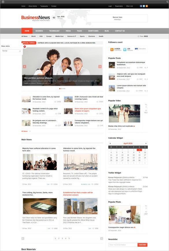 responsive mobile magazine news blog template