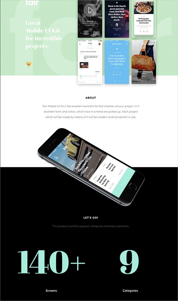 elegant mobile blog template