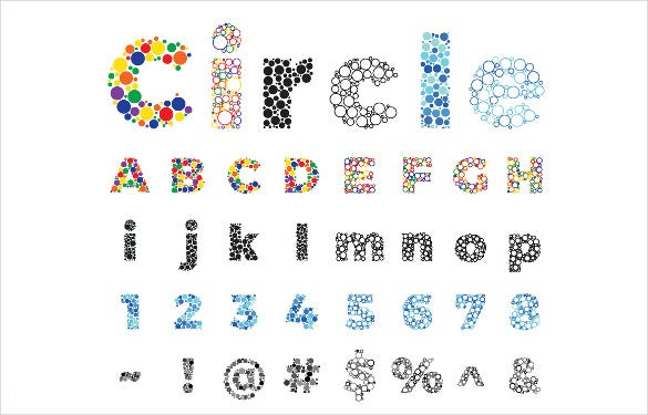 circle bubble alphabet letters