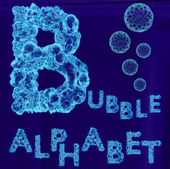 perfect bubble alphabet letter