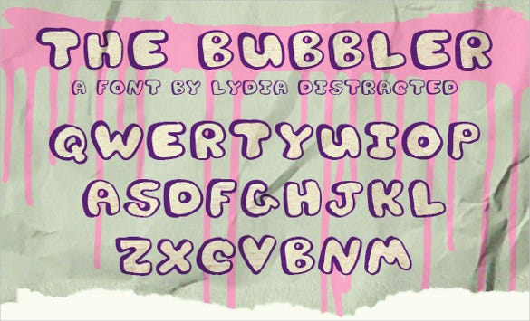 alphabet bubble best letters