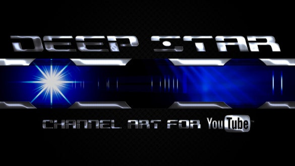 deep star youtube banner maker
