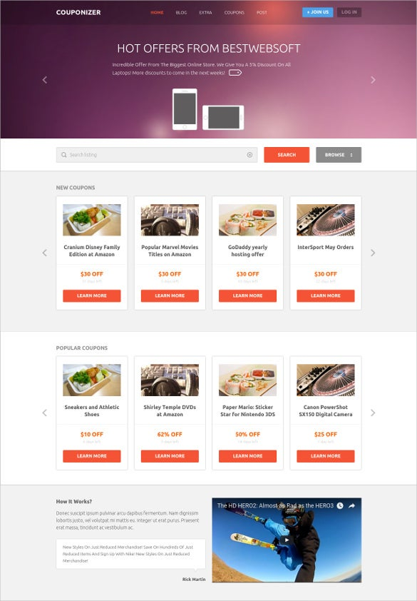 responsive mobile promo blog template