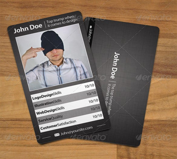 business style trading card psd template download