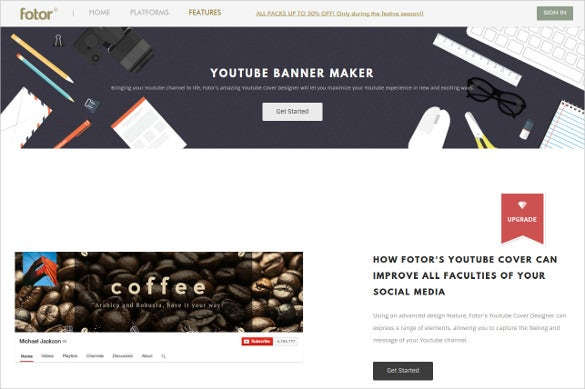 fully editable banner maker template