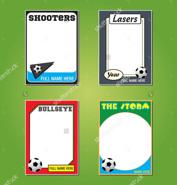 Soccer Trading Card Template Geccetackletartsco - Baseball card template photoshop
