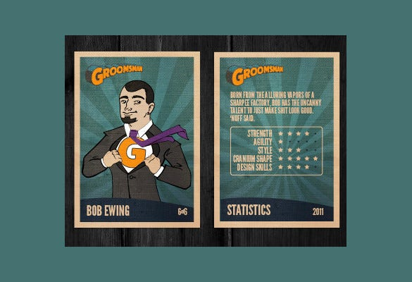 beautiful trading card template download