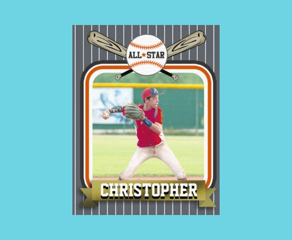 baseball trading card template download