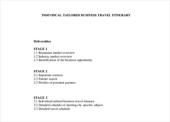 travel itinerary template details pdf