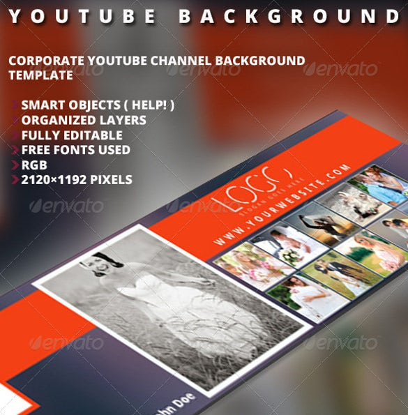 photography youtube banner background template