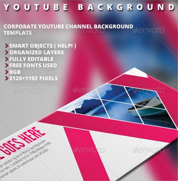 modern youtube banner background template