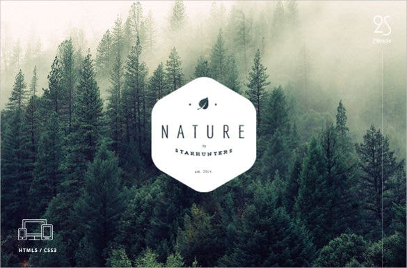 nature youtube banner background template