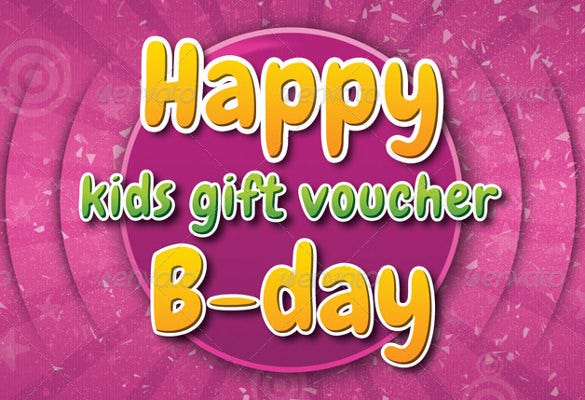 kids birthday coupon template