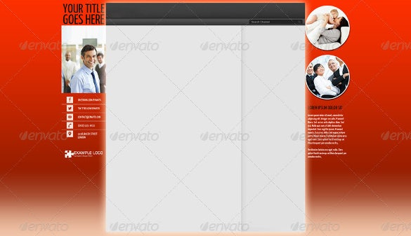 attractive youtube banner background template