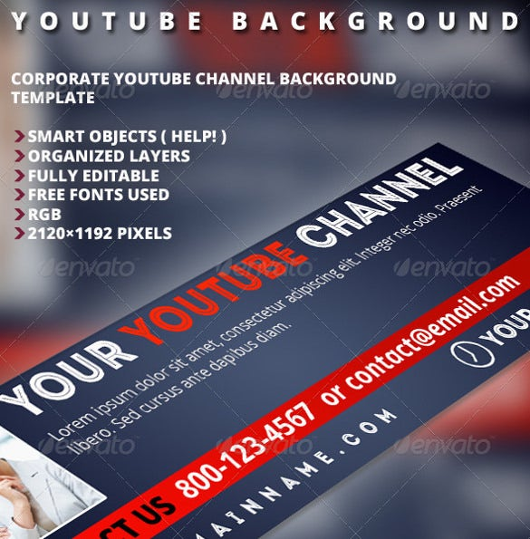 Youtube Banner Background Template