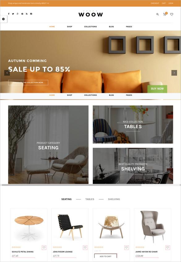 responsive furnishing woocommerce theme
