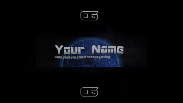 blue moon youtube banner background template