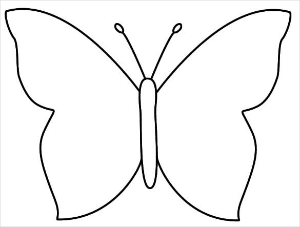 Butterfly Templates  Printable Crafts  Colouring Pages