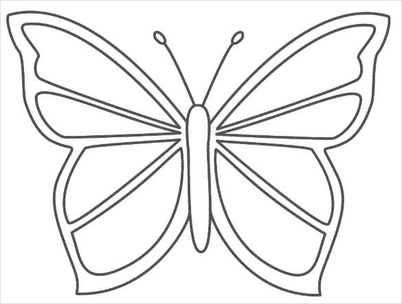 Number Names Worksheets butterfly trace : 30+ Butterfly Templates – Printable Crafts & Colouring Pages ...