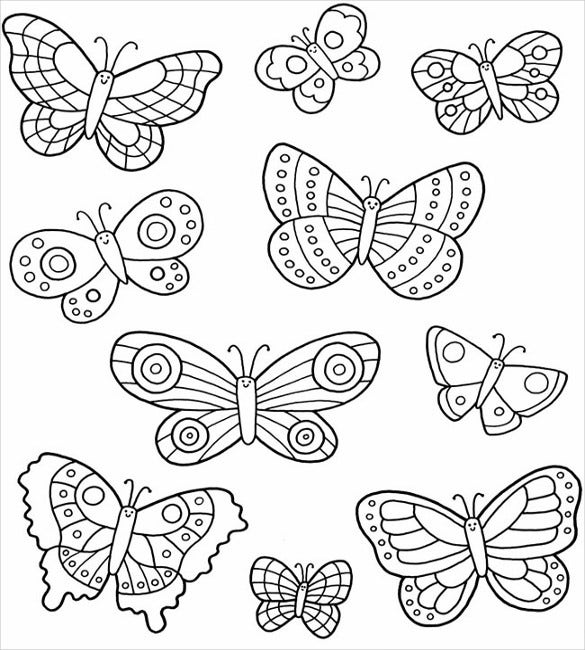 image about Printable Butterfly Template titled 28+ Butterfly Templates - Printable Crafts Colouring Web pages